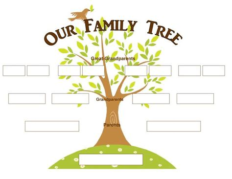 family tree decorative page family tree images blank