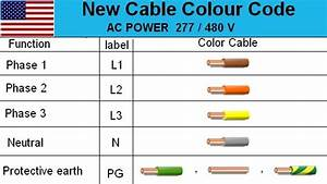 3 Phase Us Electrical Cable Color Code Wire Diagram Live