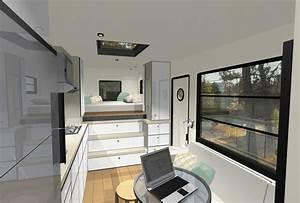 Custom, Truck, Rv, Modern, Motorhome, Living, Or, A, Tiny, House