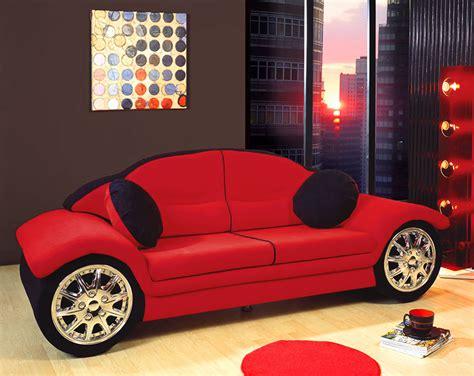 Red Black Race Car Sofa Children Furniture Microfiber New