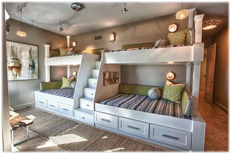 bunk beds built  wall custom bunk beds built