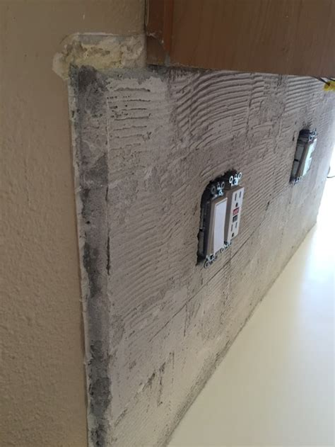 backsplash  thick mortar