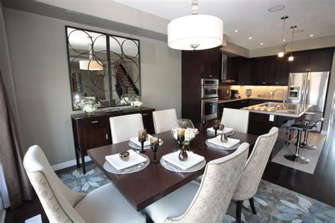 model home kitchen  dining room modern dining room toronto  michelle finnamore