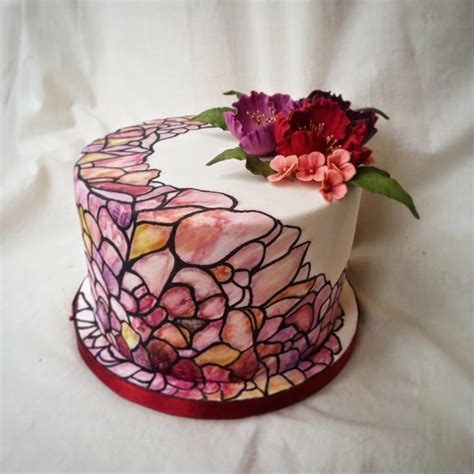 glass cake decoration how to make piping gel