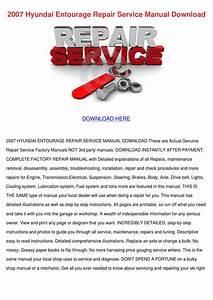 2007 Hyundai Entourage Repair Service Manual By Wardtoledo