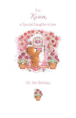 special daughter  law greeting card happy