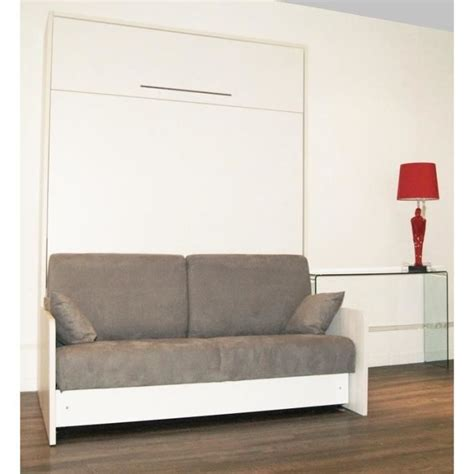 lit escamotable canapé pas cher cette armoire lit space sofa se transforme en lit de 160