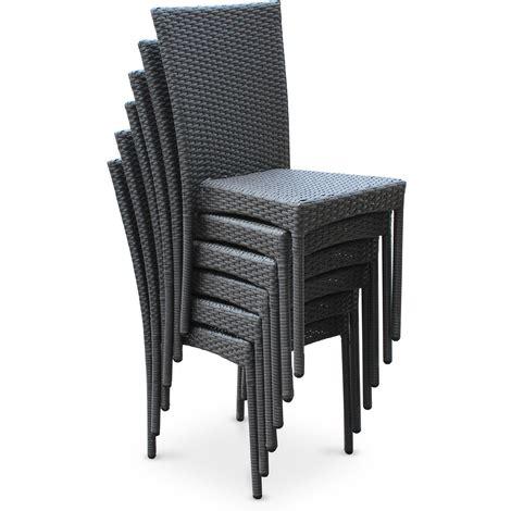 chaises de salon de jardin chaise de jardin en résine tressée l 39 univers du jardin