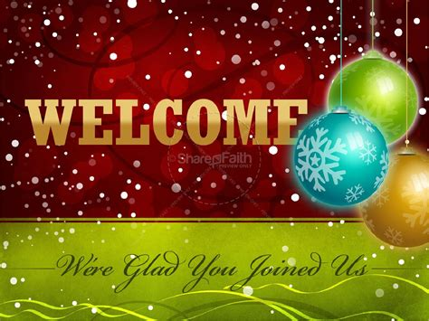 ca christmas welcome message blessing powerpoint