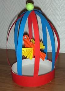 Activite Enfant 1 An : oiseau cage activit bricolage fabriquer papier jouet ~ Melissatoandfro.com Idées de Décoration