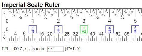 Scale Ruler Online W/ Imperial Unit(in, Ft, Yd, Mi
