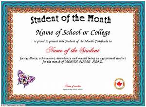 student of the month With free printable student of the month certificate templates