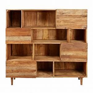Maison Du Monde Bibliotheque : biblioth que 4 portes en bois recycl s tennessee maisons du monde ~ Teatrodelosmanantiales.com Idées de Décoration
