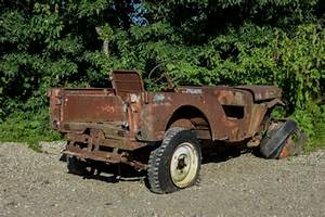 1946 Willys Jeep Cj2a Vec W   Solid Rims Very Early