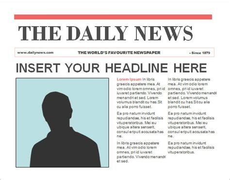 powerpoint newspaper templates  sample  format   premium