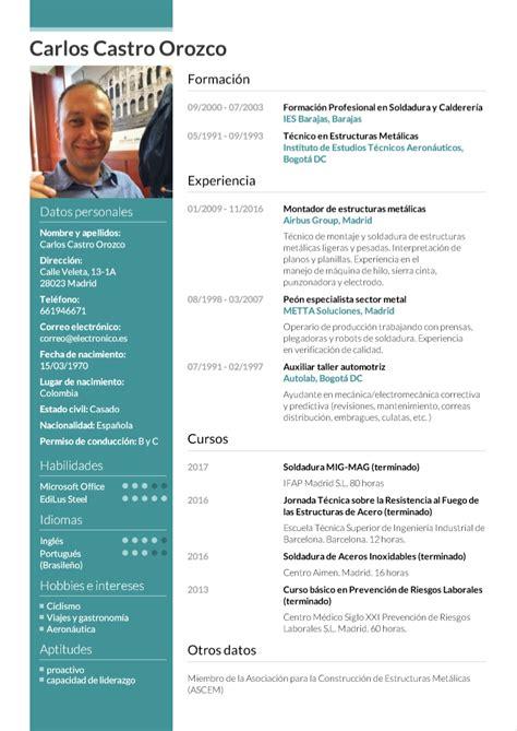 Cv Wizard by Curriculum Vitae Ejemplos 2018