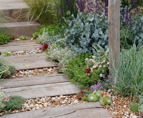 Seaside Garden Design Ideas sleepers and shingle path garden ideas paths