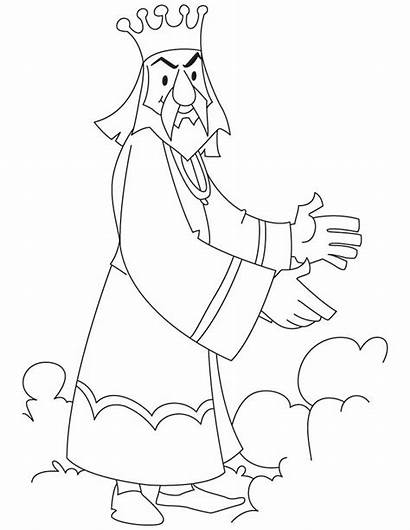 King Coloring Pages Royal Herod Angry Throne