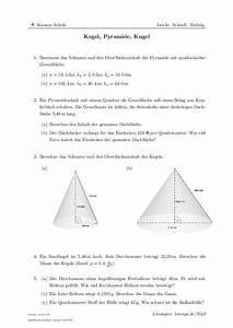 Scheitelpunkt Berechnen Aufgaben Mit Lösungen : kegel pyramide kugel aufgaben mit l sungen und videoerkl rungen 9540 klasse 10 ~ Themetempest.com Abrechnung