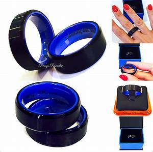 tungsten wedding bands men engagement ring black blue mens With black and blue mens wedding ring
