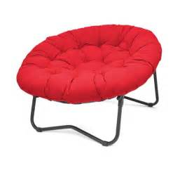 red foldable folding oversized papasan round comfortable