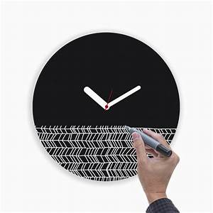 Draw Up Wall Clock // Black - WEEW Smart Design - Touch of ...