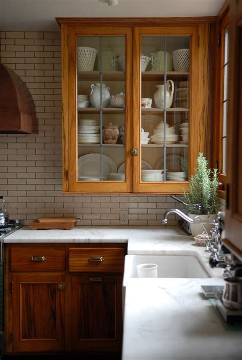 countertop  stained wood cabinets maria killam