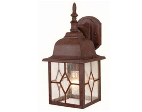 lawrence 1 light 15 5 quot rustic brown outdoor wall light at
