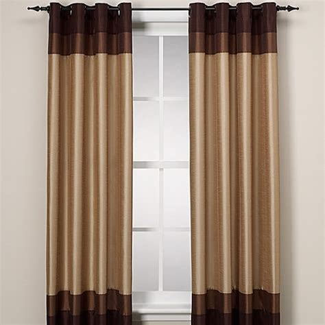 color block curtains colorblock grommet window panel bed bath beyond