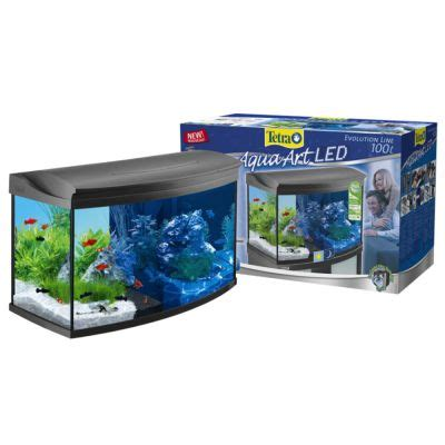 tetra aquaart evolution line led 100 l kit aquarium complet zooplus