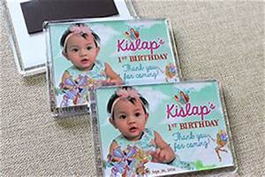 1st birthday souvenirs and giveaways manila philippines for Personalized ref magnet giveaways
