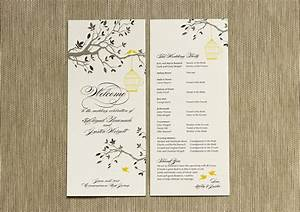 Wedding programs romantic decoration for Wedding program info