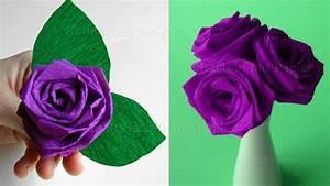 Origami Blumen Falten : origami rose falten blumen basteln rosen aus krepp ~ Watch28wear.com Haus und Dekorationen