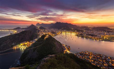 2560x1700 Rio De Janeiro Brazil Cityscape Evening Sunset