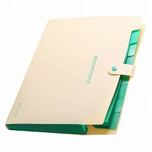 8 layer a4 paper file folder holder document storage bag With office supplies document holder