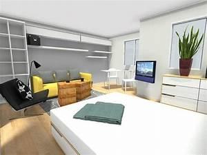 Wohn Schlafzimmer Einrichten : wohn und schlafraum in einem einrichtungsideen ~ Sanjose-hotels-ca.com Haus und Dekorationen
