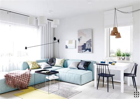 Small Scandinavian Apartment Open Airy Design by Scandinavian Apartment Design With Beautiful And