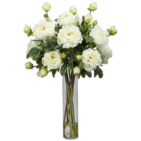Flower Arrangements In A Vase by 32 Quot Large Artificial Silk White Peony Flower Centerpiece