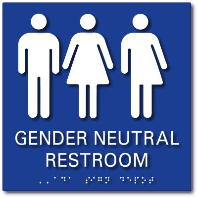 Gender Neutral Bathroom Signs  Ada Restroom Signs