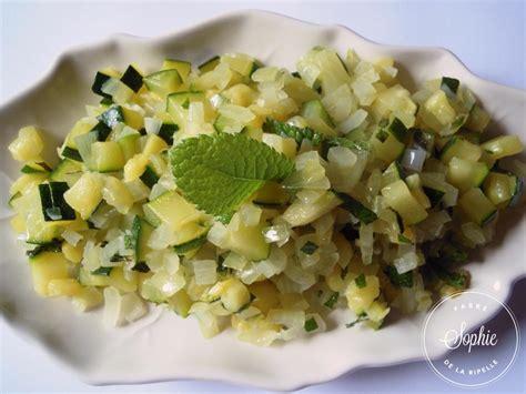 cuisine courgettes salade de courgettes mi cuites à la menthe la tendresse