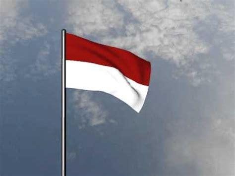 bendera merah putih berkibar animasi youtube