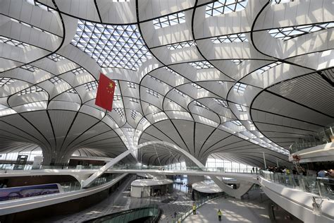 beijings sprawling  daxing airport finished  open