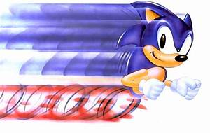 Sonic Running Fast Animation images