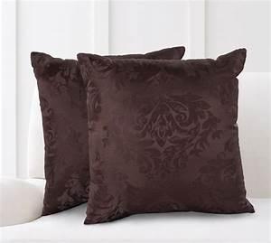 Mainstays, Damask, Jacquard, Decorative, Throw, Pillow, Set, 2pk, Brown, -, Walmart, Com