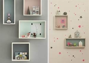 Etagere Murale Chambre Fille : id es de d co chambre fille dans le style romantique tr s chic ~ Dailycaller-alerts.com Idées de Décoration