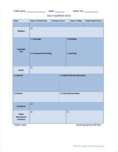 Troy University Lesson Plan Template by Free Printable Lesson Plan Template From Kindergarden To