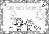 Eid Colouring Sheets Fitr Ul Muslim Border Mum Moon Festival Bunting Lanterns Cute Candies Celebrating Gifts sketch template