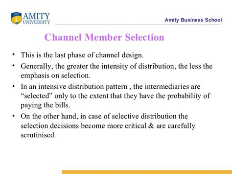 selection  channel partners