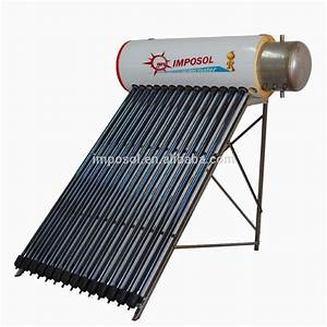 No Battery Powered Heat Pipe Portable Solar Water Heater ...
