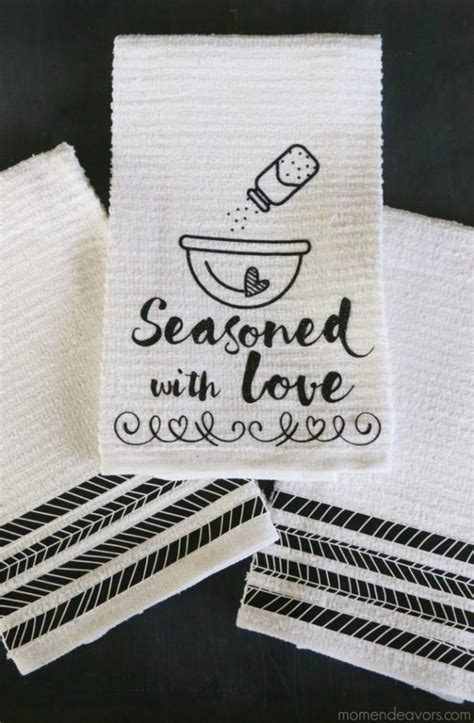 seasoned  love diy kitchen towel